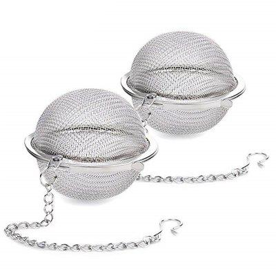 2PCS Portable Small Stainless Steel Seasoning Ball