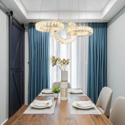 Nordic Post Modern Crystal Three Color Switch Chandelier