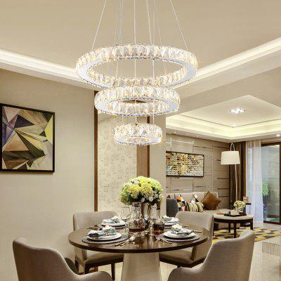 Designer Creative Personality 3 Layer Three Color Switch Crystal Pendant Lamp