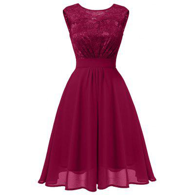 Ladies Autumn and Winter Temperament Thin Sweet Solid Color Hollow Sexy Dress