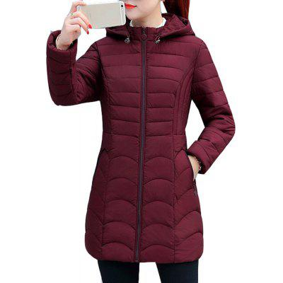 Long Thin Slim Winter Coat Women'S Warm Jacket