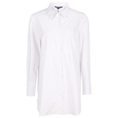 KISSMILK Damen Long Women's Shirt Weiß