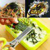 Stainless Steel Multifunctional 5 Layer Kitchen Scissors Baby Food Shears - YELLOW GREEN