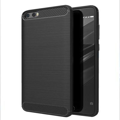 Arbon Fibre Wiredrawing Anti-Fall Cell Phone Case for Xiaomi Plus
