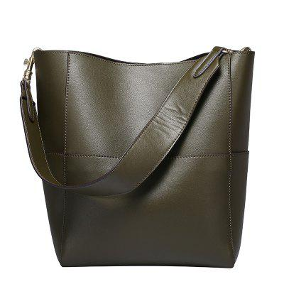 DUOCHUN Leather Bucket Bag Leisure Shoulder Bag