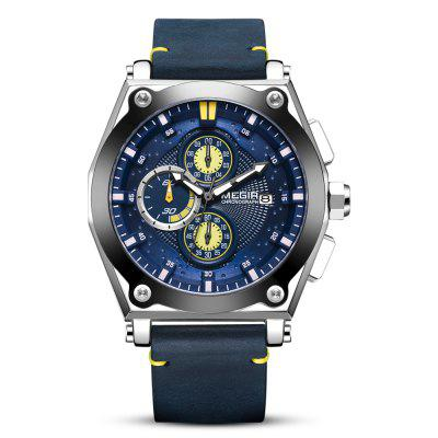 MEGIR 2098 Imported Japanese Quartz Movement Multi-Function Sports Men'S Watch