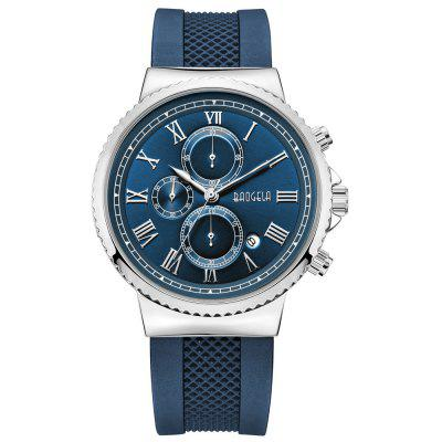 Baogela Men Fashion Chronograph with Silicone Band Water Resistant Quartz Watch