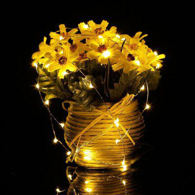OMTO LED String Fairy Lights 2M 20 diod LED Przycisk CR2032 Zasilany baterią LED Light