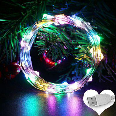 OMTO 5M 10M USB LED String Light Vodotěsný LED měděný vodič String Holiday Light