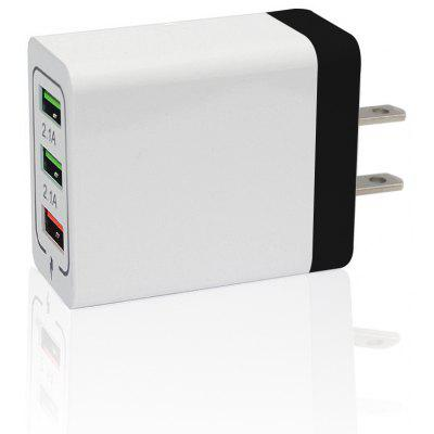 Minismile 30W QC 3.0 Quick Charge 3-poorts voedingsadapter US Plug Wall Fast Charger