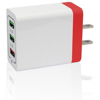 Minismile 30W QC 3.0 Quick Charge 3-Port Power Adapter US Plug Wall Fast Charger