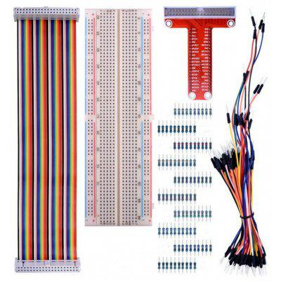 pre Raspberry Pi 3 Kit s 830 Tie-Points Breadboard a 40 pin Rainbow kábel