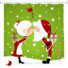 Christmas Couple 3D Digital Printing Tessuto impermeabile e resistente alla muffa - MULTI COLORI