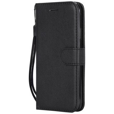 Dla Iphone XS Case Zwykły PU Leather + Silicon Wallet Stand Cover dla iPhone X 10