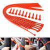 10 Pieces of Automobile Anti-skid Tire Tyre Skid Chain - ORANGE