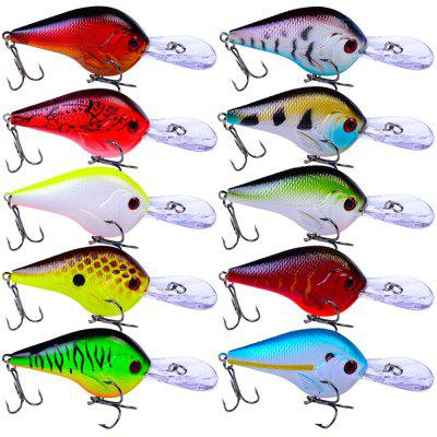 10 Lifelike Floating Fishing Lure 9.5cm 11g Pesca Hooks Wobbler Tackle Crankbait