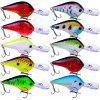 10 Lifelike Floating Fishing Lure 9.5cm 11g Pesca Hooks Wobbler Tackle Crankbait - MULTI