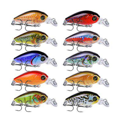 10PCS Topwater Wobbler Mini Pescuit LO 4G Artificială Pictat Hard Bait Crank