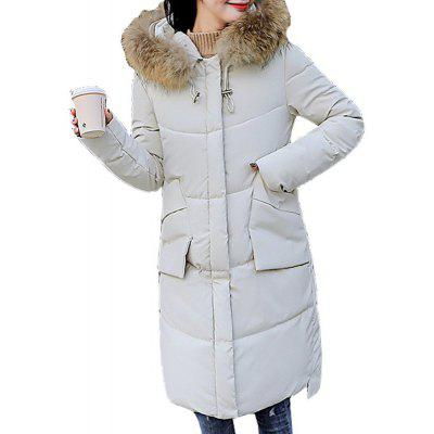 2018 New Women Hooded Coat Plus Size Thick Warm Top Slim Girl Long Parkas