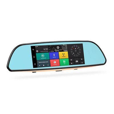 Karsuite T7 6.88 Inch IPS LCD Touch Panel Stream Media Mirror Camera