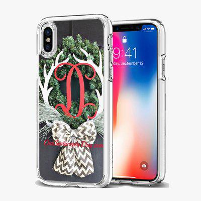 Christmas Deer Pattern For IPhoneX XS TPU Case