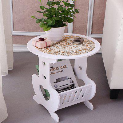 Heart-shaped pattern small round table