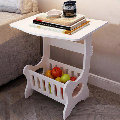Small modern square table with storage box