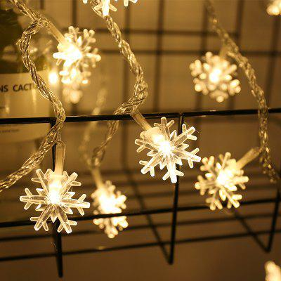 YEDUO Christmas Tree Snow Flakes Led String Fairy Light Wedding Party Garden