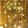 YEDUO Christmas Tree Snow Flakes Led String Fairy Light  Party Wedding Garden - WARM WHITE