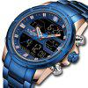 NAVIFORCE Men Top Luxury Brand Waterproof LED Digital Sport Watch - BLUE