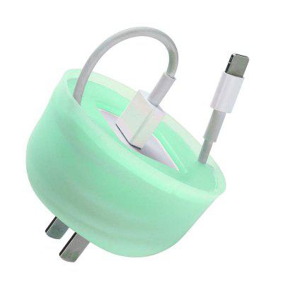 Silicone Mini Charger Holder Carrying Case Winder Cable Protector for iphone