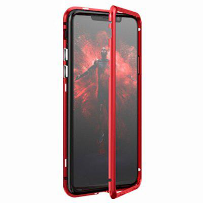 Built-in Magnetic Case for iPhone XR HD Tempered Glass Magnet Adsorption