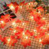 Maple Leaves Lights String Lamp Party Christmas Home Room Decor - MULTI