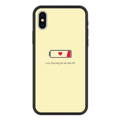Love'S Power Graphic PC Silicone Frosted Soft Hard 2 in 1 Case for iPhone X