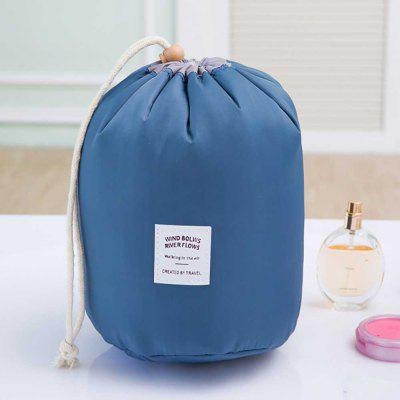 Multicolor Light Fashion Travel High Capacity Drawstring Cylinder Cosmetic Bag