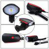 Rechargeable Led Bike Light Set - Bicycle Headlight with Bike Horn + Tail Light - RED