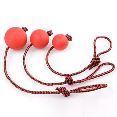Pet Molar Toy with Rope Rubber Ball