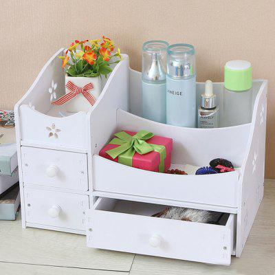 Jewelry Organizers Box Hollow Out Flowers Design Makeup Organizers