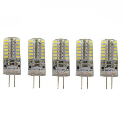 5PCS 3.5W G4 LED BI-PIN lumini SMD 3014 cristal decorative de cristal DC 12V