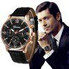 New Geneva Men Leisure Belt Creative Watch Dial Quartz Watch - BLACK
