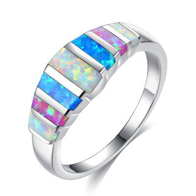 Opal Natural Stone Opal Ring Lady'S Hand