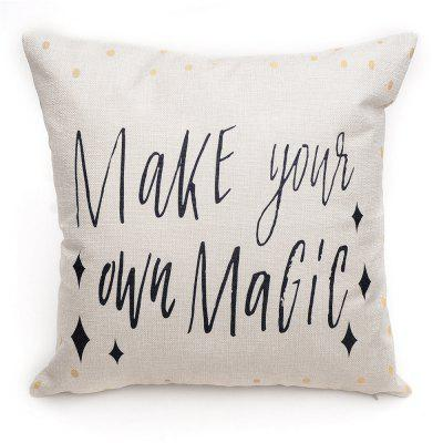 PCM032 English Letters Linen Throw Pillow Cover