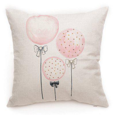 PCM025 Square Throw Pillow Cover with Balloon