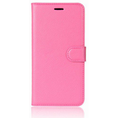 Litchi-Printed Left and Right Flip Phone Case for Nokia 6 2018