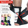 Handise Sports Ankle Sleeve Elastic Bandage Compression Foot Protective Gear - ROSE RED