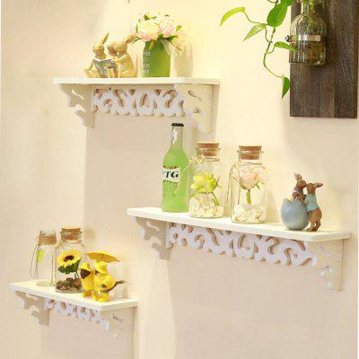 3 Pcs Wall Shelves Pastoral Style Home Decorative Wall Supporter