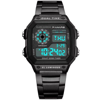 PANARS Men Sport Utility Waterproof Double Display Electronic Watch