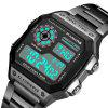 PANARS Men Sport Utility Waterproof Double Display Electronic Watch - JET BLACK