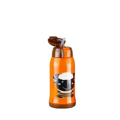 Animal Cartoon Double Wall Stainless Steel Water Bottle Kids Cute Thermos Cup