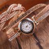 Montre Femme Diamants Tissé Montre De Table Quartz - BEIGE